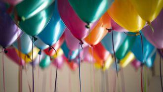 ballonnen voor iemand die in januari jarig is