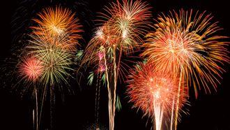 vuurwerk op oudejaarsavond