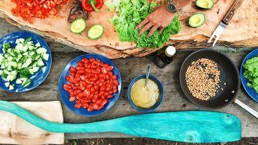 Koolhydraatarme salade / eten voorbereiden