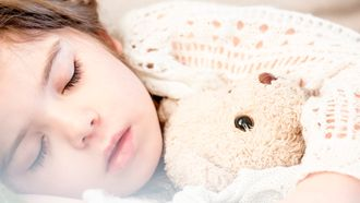 Ziek kind in bed