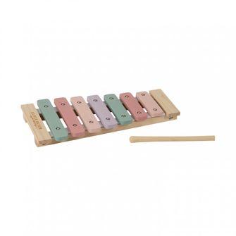 Houten xylofoon met vrolijke kleuren