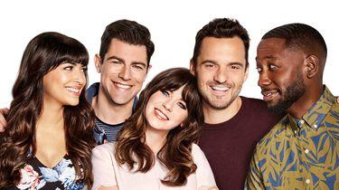 De cast van New Girl met onder andere Max Grenfield
