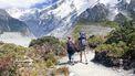 Ilse met haar gezin in de bergen van Nieuw Zeeland