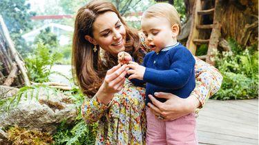 Kate Middleton samen met haar jongste zoon