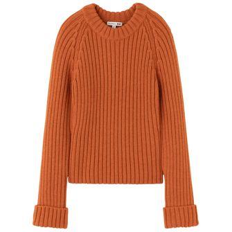 Oranje gebreide herfsttrui van UNIQLO x JW Anderson