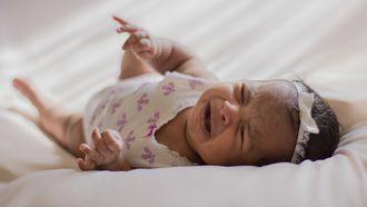 baby laten huilen