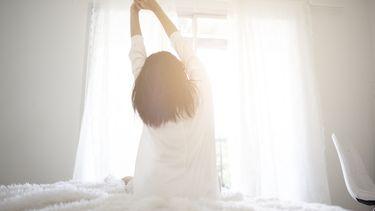vrouw heeft stress in de ochtend