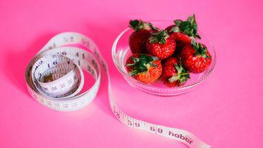 intermittent fasting / meetlint en aardbeien