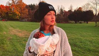Gigi Hadid met baby