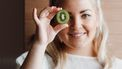 kiwi eten met schil