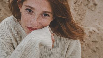 vrouw met een mooie huid