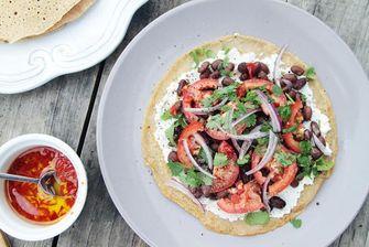 Koolhydraatarme lunch / Mexicaanse boekweittortilla's