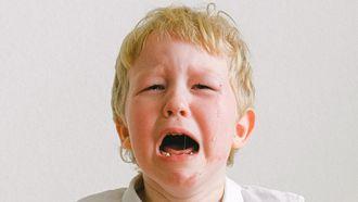 troosten Kind dat huilt omdat hij de juf mist