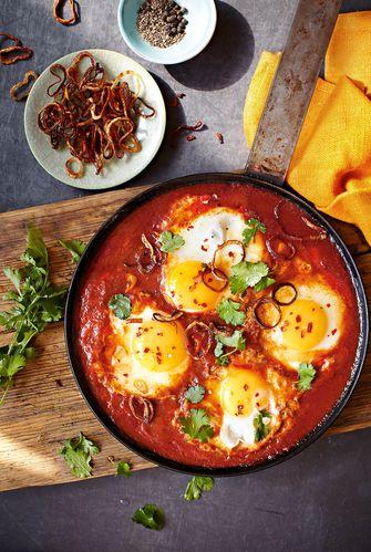 Koolhydraatarme lunch / Eieren in chilisambal