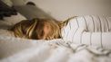 vrouw met stress op bed