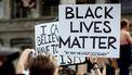 Het protest op de Dam in Amsterdam tegen racisme en politiegeweld tegen zwarte mensen