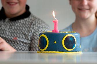 De taart die Nouri's vriendinnetje had gekocht voor hun jubileum
