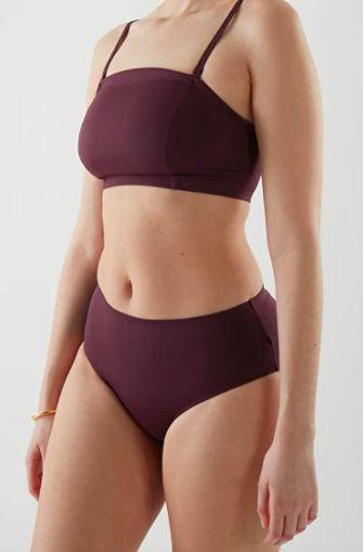 COS bikini donker paars