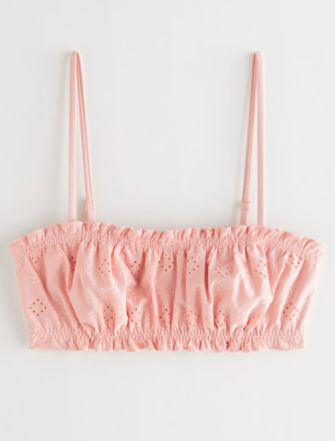 Roze embroided bandeau top &Other Stories