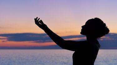spiritueel beeld van een vrouw