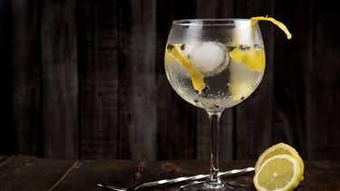 alcohol / gin tonic in glas